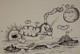 clouds drawing by matthew wright