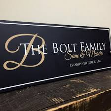 personalized family name signs rustic wood signs signs with