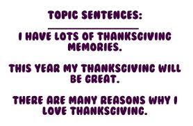 Paragraph About Thanksgiving Crain U0027s Gang Thanksgiving Descriptive Paragraph