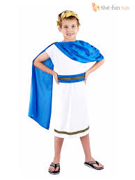 boys roman emperor king toga caesar greek childs kids fancy dress