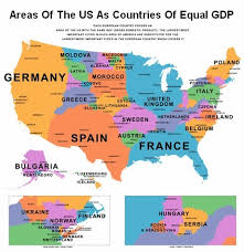 map us states world economies map of us states compared to other countries by