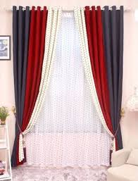 red and white bedroom curtains cl lss 040 high grade solid chenille stitching bedroom living