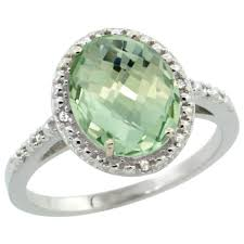 green amethyst engagement ring 14k white gold diamond jewelry color gemstone rings green amethyst