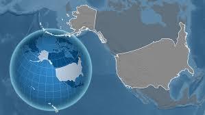 united states globe map united states with alaska shape animated on the satellite map of