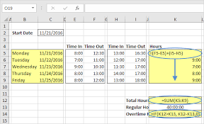 how to make a timesheet in excel time sheet in excel easy excel tutorial
