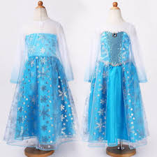 Frozen Costume Girls Elsa Fancy Dress Frozen Costume Kids Ages 2 3 4 5 6 7
