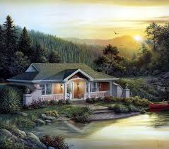 cabin cottage plans house plan 87887 at familyhomeplans com