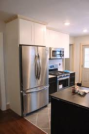 refrigerator cabinet side panels kitchen renovation doors drawers and appliances danks and honey