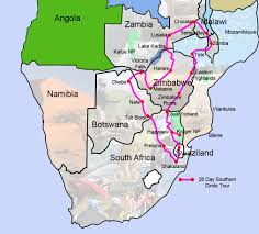 Malawi Map Southern Africa Circel Tour Map