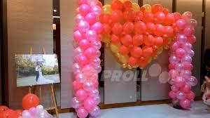 Pink Balloon Decoration Ideas Outdoor Wedding Decorations Ideas Wedding Balloon Decorations