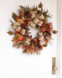 battery lighted fall garland fall harvest wreath garland and swag balsam hill
