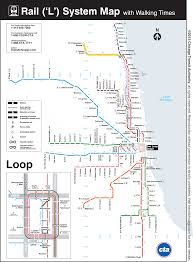 Chicago Loop Map by This Map Shows The Walking Distance Between Cta U0027l U0027 Stations