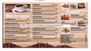 takeout menu template restaurant cafe take out menu template free