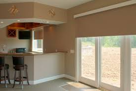 Sliding Panels For Patio Door Interior Glass Door With Cream Roll Up Shade Combined With Cream