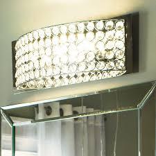 Manificent Plain Crystal Vanity Lights For Bathroom Chrome 4 Fixture Bathroom
