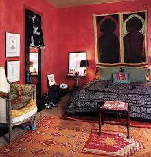 bedroom bedroom middle red moroccan style with bohemian interior