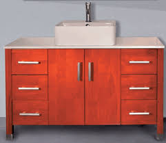 48 Inch Bathroom Vanities With Tops 48 Inch Bathroom Vanity Vessel Sink Top Style Chestnut Color A811648cc