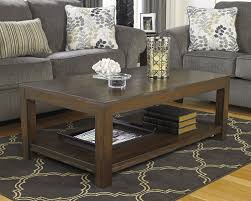 brown coffee table set amazon com ashley furniture signature design grinlyn coffee table