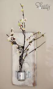 Wall Mounted Glass Flower Vases Glass Bottle Wall Vase Shanty 2 Chic