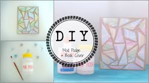diy mod podge book notebook cover back to youtube