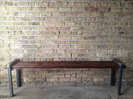 reclaimed wood and metal bench the post bench large