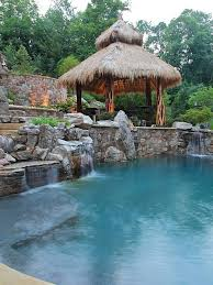 Best Tiki Yard And Pool Ideas Images On Pinterest Pool Ideas - Tiki backyard designs