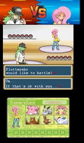 Pokemon Battle Meme - pokemon battle with fluttershy by pufflevader on deviantart
