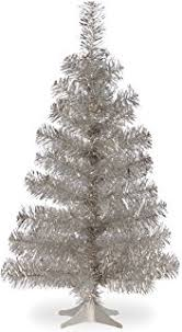 40 inch tinsel tree antique silver 3 33