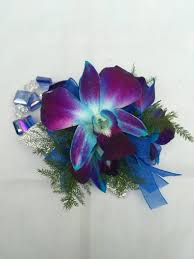blue orchid corsage electric blue orchid corsage forest lake floral gift garden