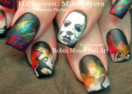 halloween nails cute black widow spiders nail art design tutorial