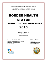 office of binational border health publications