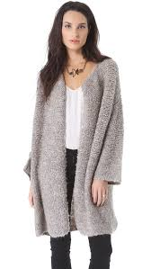 malene birger sale by malene birger viggae sweater coat in gray lyst