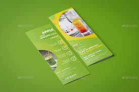 fruit juice shop take out brochure and mini menu template by wutip2