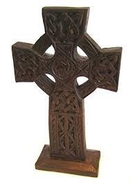 wooden celtic cross celtic cross wooden ornament fair trade 28cm by cornwall