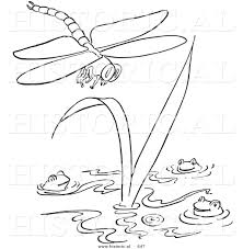 historical vector illustration of a dragonfly flying over happy