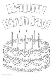 cake coloring pages preschool