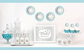 silver party favors silver snowflake winter party ideas party ideas party printables