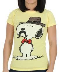 Peanuts Halloween T Shirts Womens Peanuts Snoopy Mustache T Shirt