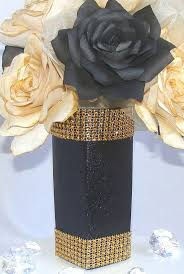 black and gold centerpieces for tables gold and black centerpiece wedding decor gold table by centertwine
