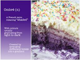 belated first blogiversary purple ombré cake the tummy train