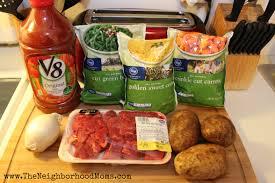 v8 chunky vegetable beef soup recipe the neighborhood moms