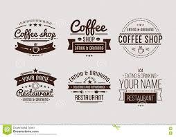design a vintage logo free vintage logo coffee shop template restaurant label stock vector