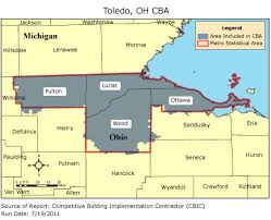 toledo ohio map cbic 2 competitive bidding area toledo oh cbic