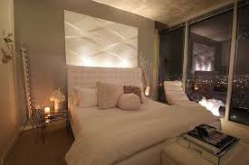 Glamorous White And Grey Bedroom Design With Amazing City Views - Glamorous bedroom designs