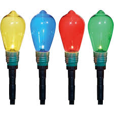 lawn stakes for lights holiday time christmas decor set of 10 d50 edison style lawn stake