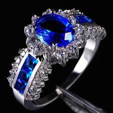 blue wedding rings 2018 g jewelry women s blue tanzanite 10kt gold filled