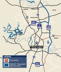 Austin Texas Map by Program Meant To Give Veterans Free Tolls Is Confusing To Many