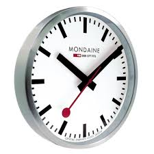 mondaine wall clock analogue a990 clock 16sbb a990 clock 16sbb
