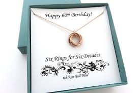 rose gold rings necklace images 60th birthday gift for women rose gold ring necklace JPG