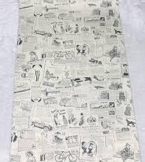 vintage newspaper peel u0026 stick wallpaper beige black self adhesive